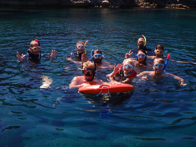 group of snorkellers